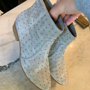 Joie Ankle Studded Suede Boots
